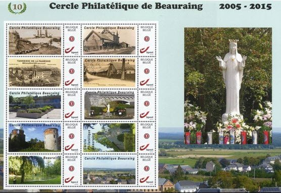 Beauraing et ses timbres
